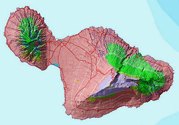 Land use patterns on Maui